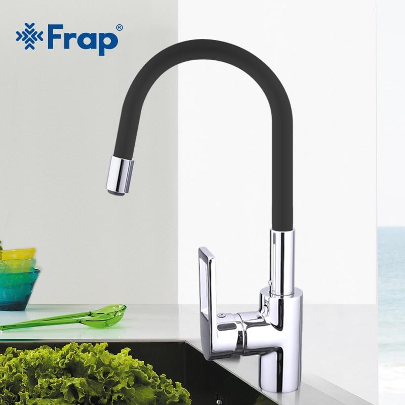 Frap Новое поступление 7 видов цветов силикагель нос любой направление вращения Кухня кран холодной и горячей воды смеситель Torneira Cozinha F4253