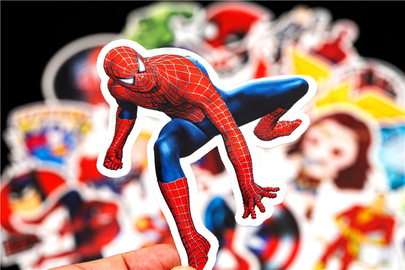Super Hero Stickers Funny JDM Kids Toy Sticker for DIY Luggage Laptop Skateboard Motorcycle Car Phone Bedroom Sticke (10)