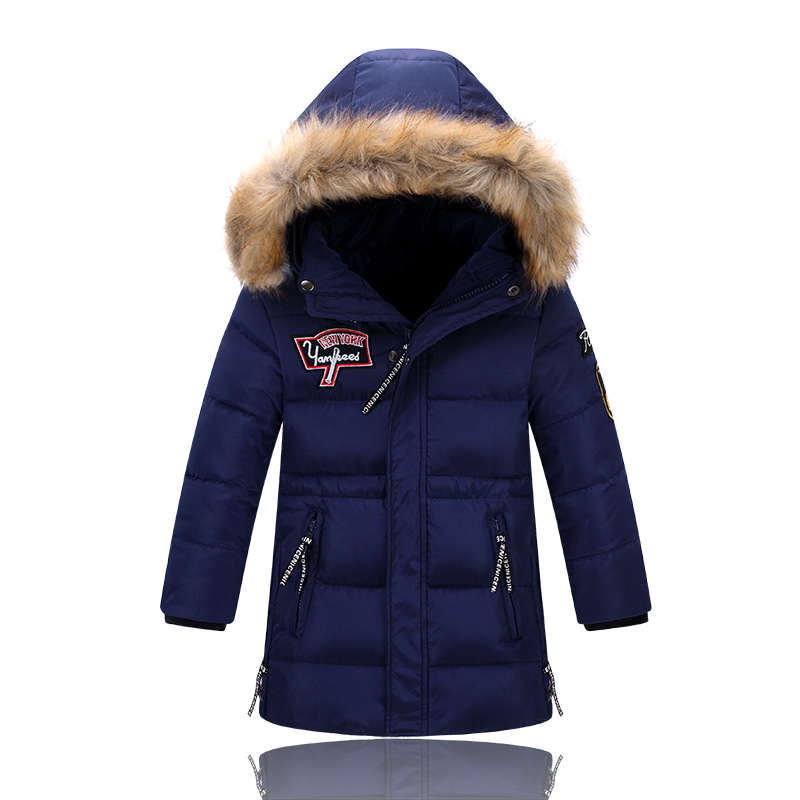 Children Winter Jacket Long Thick Duck Down Coat for Boy Girl Warm Fur Collar Hooded Winter Outerwear Kid Winter Windproof Parka down coat winter jacket men hooded parka with fur collar duck down jackets thick warm long outerwear male brand clothing