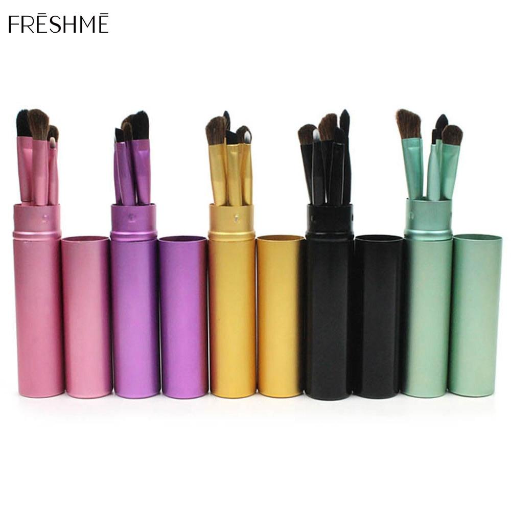 FRESHME Portable Makeup Brush 5 Colors Eye Shadow Makeup Eyelash Eyeshadow Brush Set Professional Beauty Tools Pennelli Trucco