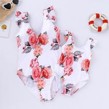 Family Swimsuits Mommy and Me Clothes Mother Daughter Swimwear Floral Bathing Suits Mom Girls Matching Outfits Bikini Dress Look floral mother daughter swimwear mommy and me clothes family look bikini swimsuits mom daughter matching bathing suits dresses
