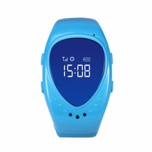 Mini GPS tracker watch phone for kids children A6 gps bracelet google map sos button, free apps gsm gps locator free shipping