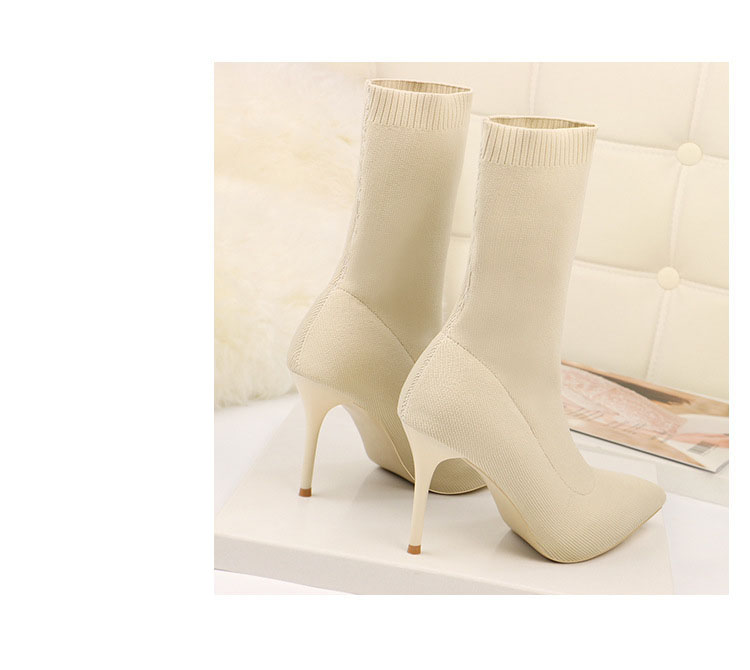HTB1MBwyaOnrK1RjSsziq6xptpXaZ - SEGGNICE Sexy Sock Boots Knitting Stretch Boots High Heels For Women Fashion Shoes Spring Autumn Ankle Boots Booties Female