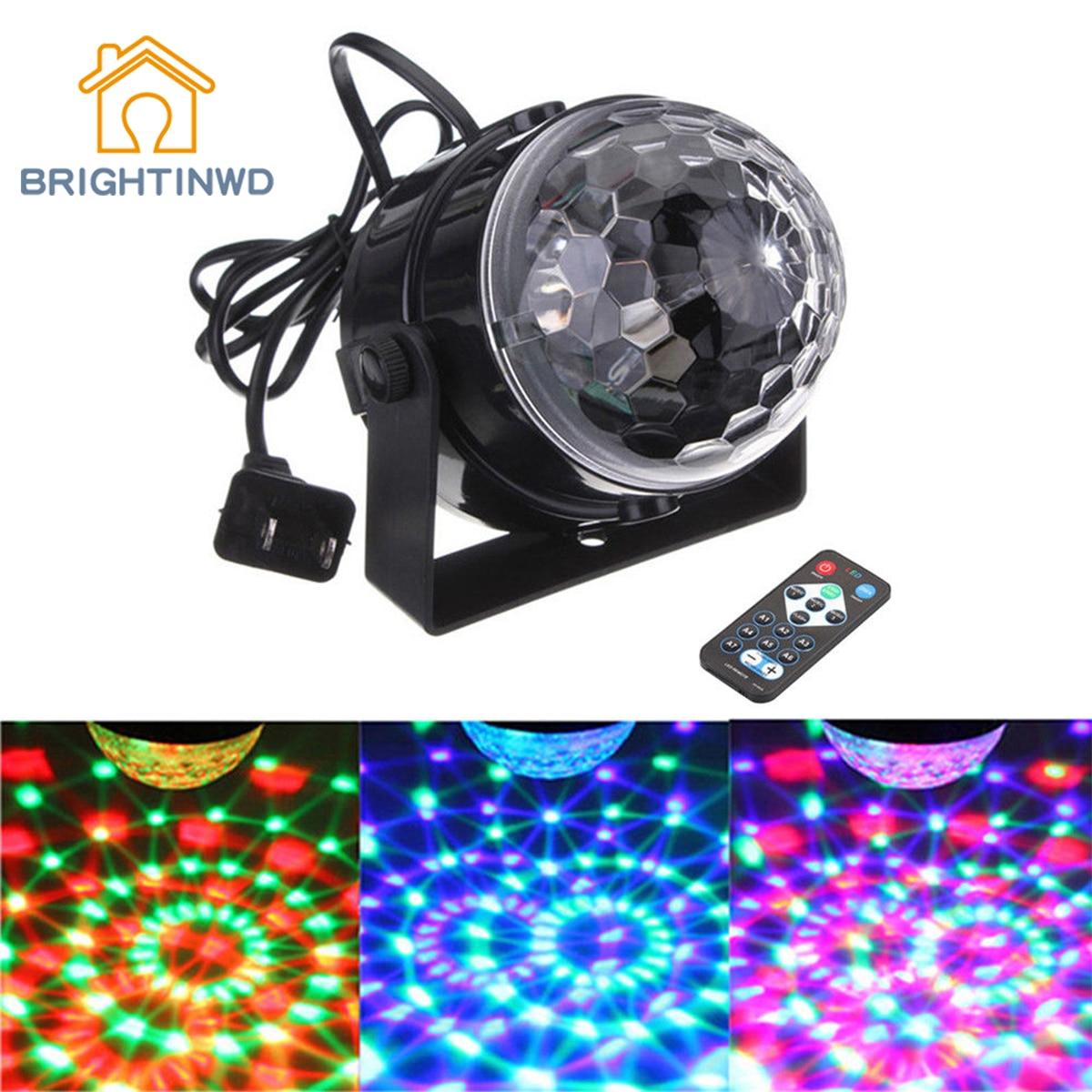 BRIGHTINWD Mini DJ Club Disco KTV Party Bar RGB Color LED Ball Laser Projector Stage Light