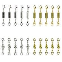 2144c3244216 20 piezas cilindro magnético cierres ganchos imán hebilla conectores  aplausos para collar de pulsera de la joyería de DIY manual.