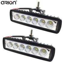 2Pcs 18W מבול LED עבודה אור טרקטורונים מכביש מנורת הנהיגה עבור 4x4 offroad SUV רכב משאית קרוואן טרקטור UTV רכב