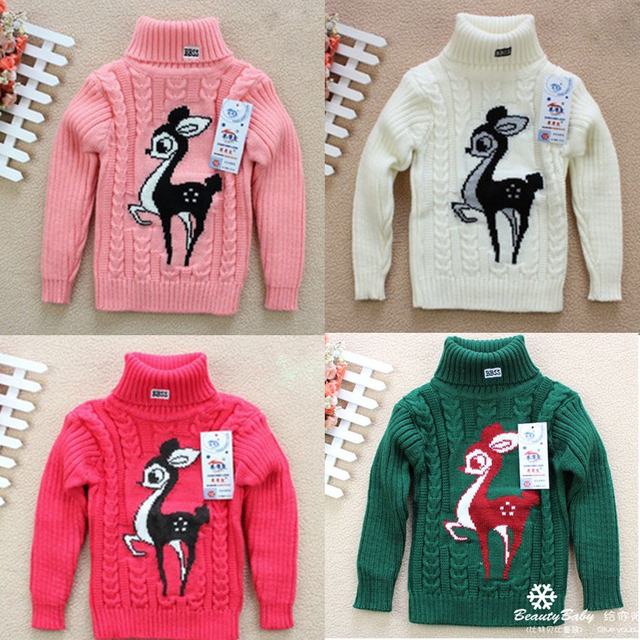 e7c0e1636f4e 100% cotton thickening cartoon deer baby pullover sweaters infant ...