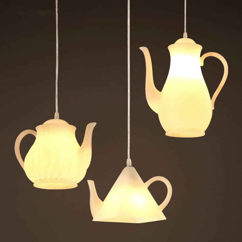 Northern Europe Simple Pendant Lamp Creative Teapot Suspension Luminaire Personality Bar Pendant Lights Restaurant Art Deco LighNorthern Europe Simple Pendant Lamp Creative Teapot Suspension Luminaire Personality Bar Pendant Lights Restaurant Art Deco Ligh