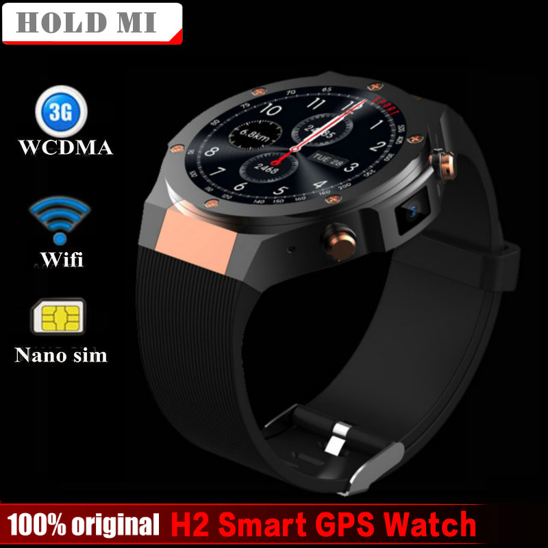 Hold Mi H2 android ios 1G+16GB Smart GPS watch 1.39 inch mtk6580 SmartWatch phone 3G wifi GPS 5M heart rate nano SIM GSM WCDMA шлепанцы crocs шлепанцы