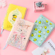 Oil-riempita manicotto di gomma PVC notebook di carta creativo set sogno paillettes macaron notebook studente(China)