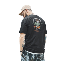 Large size men's loose casual men tshirts tee shirt tiger printed carton tshirt cotton white t shirt xl 6xl plus size t shirt