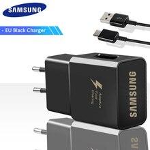 Samsung Galaxy S9 S8 S8 Plus note 8 Originele адаптер для быстрой зарядки адаптер для путешествий EU ONS UK 9V1. 67A& 5V2A быстрая Зарядное устройство 3,0