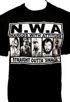 NWA Narcos With Attitude T Shirt Chapo Cartel Tee Straight Outta Sinaloa Men Women T Shirt