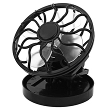 Black Round Clip On Solar Fan