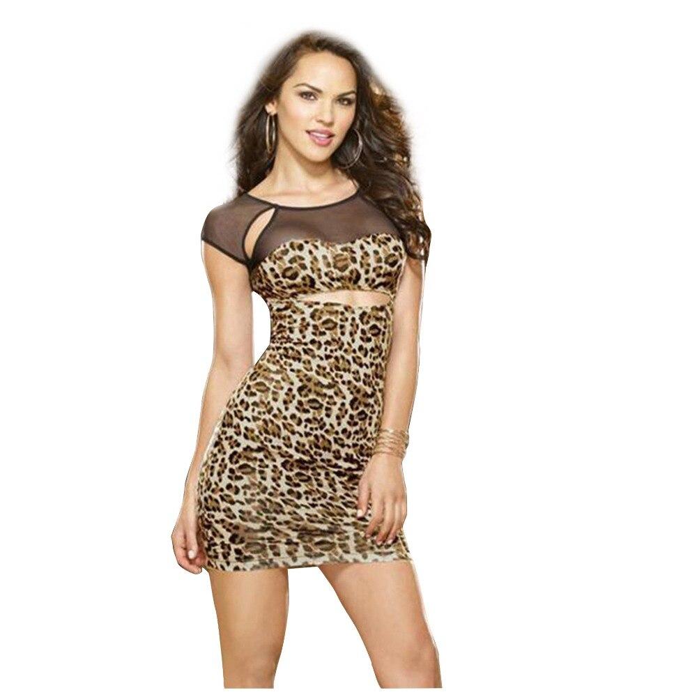 Платья 2017 леопард