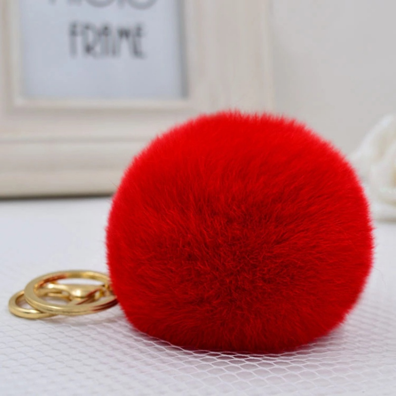 Pet Cat Dog Hair Accessories Round Collar Hair Decorations  Fur Pom Pom Rabbit Fur Cute Dog Ball Toys For Pets