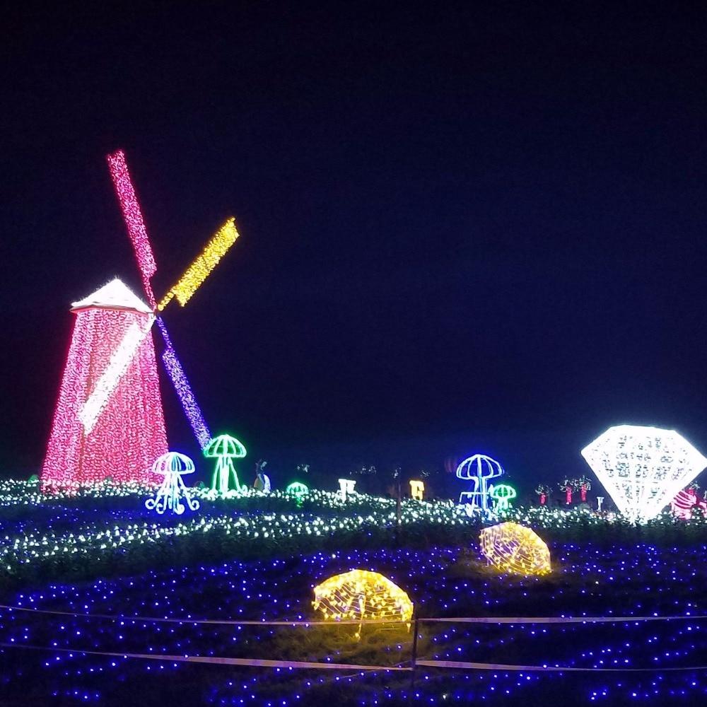 Christmas Tree Indoor Lights: 4pcs DC24V LED String Light 800 Leds 100M Outdoor Indoor