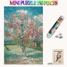 MOMEMO Peach Tree 150 Pieces Jigsaw Puzzles Mini Paper Adults Tube Puzzle 150 Pieces Paper Old Master Puzzle for Kids Teens Gift