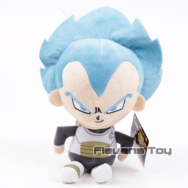 Anime Dos Desenhos Animados Dragon Ball Super SSGSS Bule Son Goku/Vegeta Toy Plush Macio Stuffed Boneca 2 Tipos