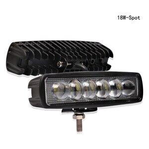 Image 3 - 1PC 12V 18W LED Bar Arbeit Licht Off Road Auto Lichter Barra Offroad 4x4 Auto zubehör 3000K Gelb 6000K Weiß