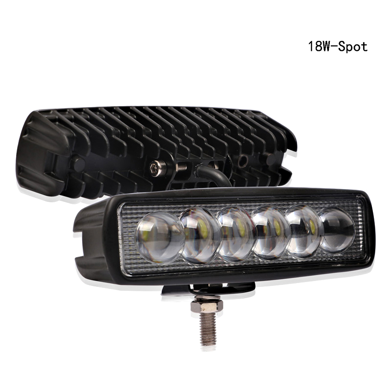 Image 3 - 1PC 12V 18W LED Bar Work Light Off Road Car Lights Barra Offroad 4x4 Auto Accessories 3000K Yellow 6000K White-in Light Bar/Work Light from Automobiles & Motorcycles