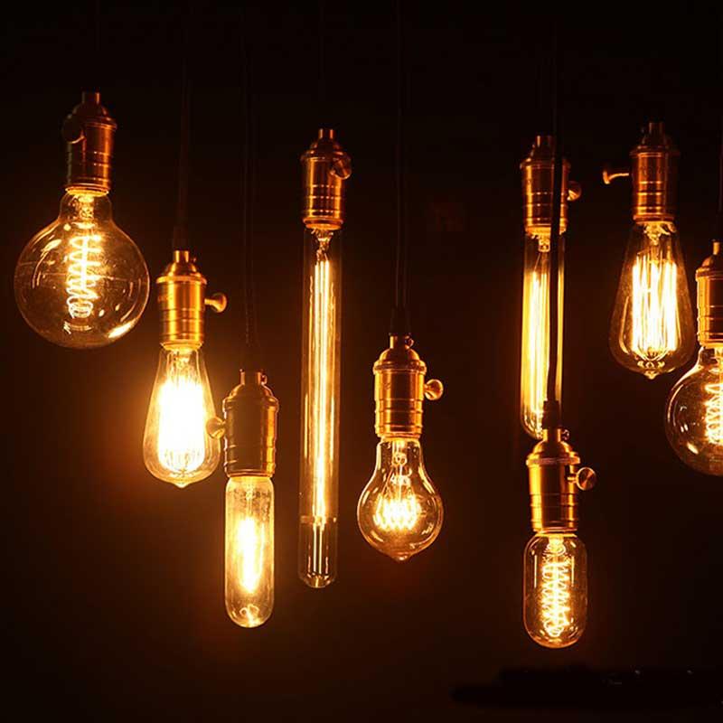 Retro Edison Gloeilamp E27 220 V 40 W ST64 G95 Lamp Vintage Gloeilamp - Binnenverlichting - Foto 3