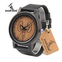 BOBO BIRD N06 Men Wooden Wristwatch GREYJOY Dial Luxury Fashion Antique Uomo Orologio Japan Quartz Movement Watches in Gift Box