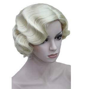 Image 2 - StrongBeauty 1920s Flapper Hairstyles for Women Finger Wave Wigs Retro Style Short Synthetic Wig