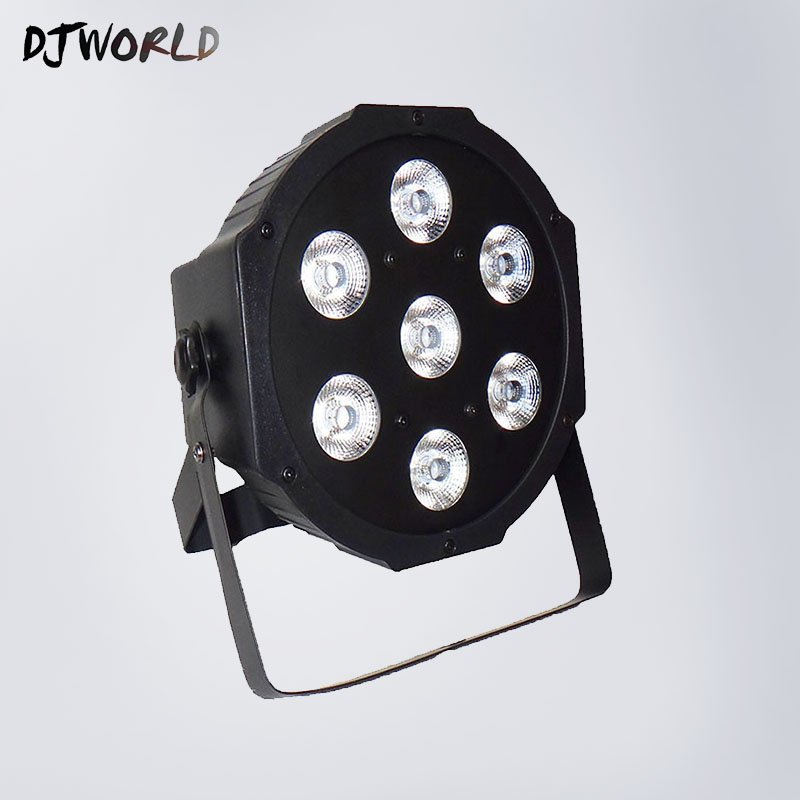 Wash Uplighting 7x12W Led Par light RGBW 4in1 flat par led dmx512 7 channels professional stage dj equipment event disco lights стоимость