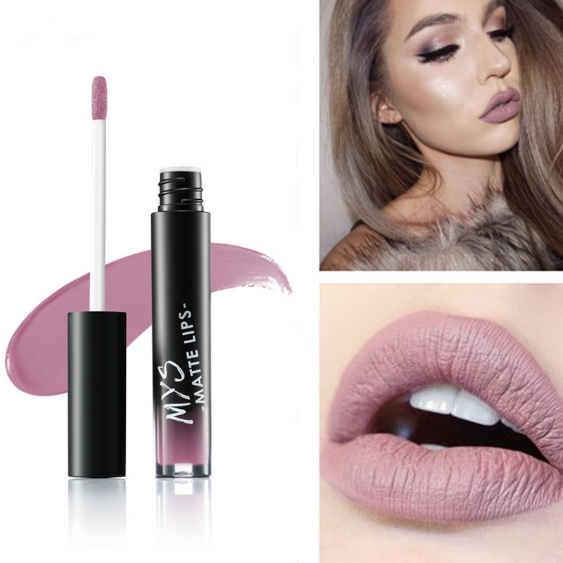 New arrival MYS makeup Liquid tint Lipstick Hot Sexy Colors Lip batom Matte Lipstick Waterproof Long Lasting Lip Gloss Lip Kit