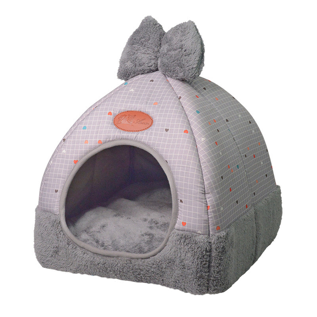 OLN 1PC Pet Dog Bed & Sofa Warming Dog House Soft Dog Nest Winter Kennel For Puppy Cat Plus Size Small Medium Dogs Pet 4
