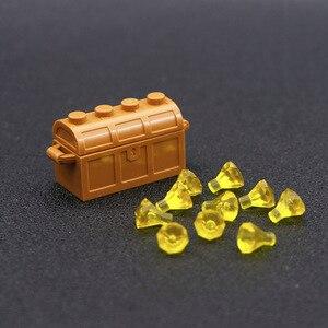 Image 5 - Accessori per città mattoncini da costruzione scatola per gioielli gemma pietra preziosa figura pirata dei caraibi giocattolo del tesoro compatibile con lego