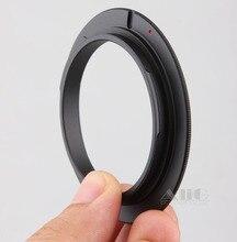 מצלמה עדשת מאקרו הפוך מתאם טבעת 49mm 52mm 55mm 58mm 62mm 67mm 72mm 77mm מסנן חוט הר עדשה עבור Canon DSLR מצלמה