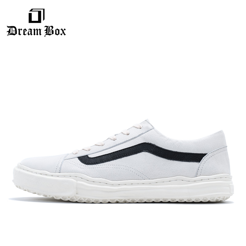 Flat bottom shoes Korean version of the British trend sports shoes wild men 39 s shoes white Мужская обувь in Men 39 s Casual Shoes from Shoes