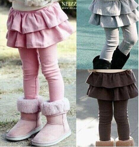 Free Shipping Retail 1pc Girls' Leggings Children's Skirt Girls Skirt-pants Cake Skirt Girl's Pants
