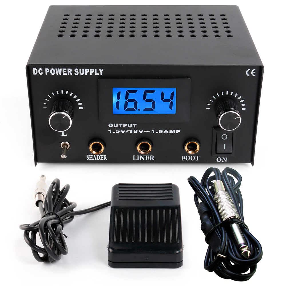 Solong Tattoo Professional Tattoo Power Supply Clip Cord Foot Pedal P114CNSolong Tattoo Professional Tattoo Power Supply Clip Cord Foot Pedal P114CN