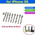 Nuevo de alta calidad a estrenar para el iphone 5s completa de tornillo Set Con 2 Botton Tornillos AJ1408 Reemplazo Accesorios Con Bolso de LOS PP