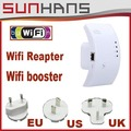 Marketing direto Wifi Repeater 802.11N Wi-fi Router 300mbps Faixa de Expander 300 dbi Antenas Wi-fi Impulsionador + EUA/UE/UK Plug
