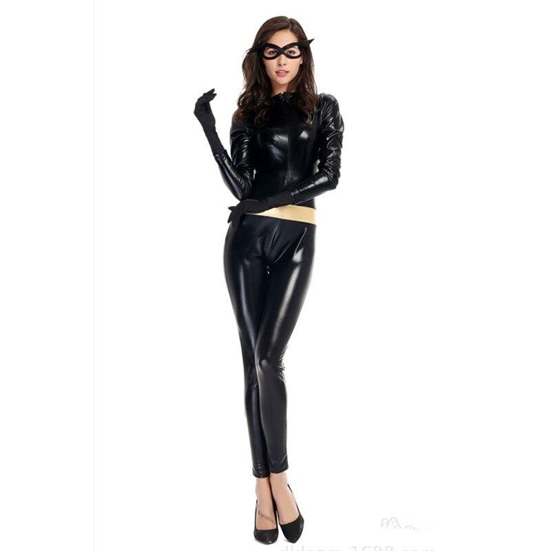 Женские пикантные Kitty Бэтмен Косплэй show Disfraces фантазия Хэллоуин Женщина-кошка костюм Эротическая одежда ночном клубе платье для танцев