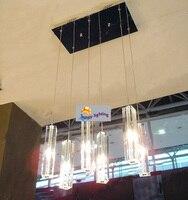 6 light Kitchen fixture Lighting Dining room crystal lamp chandelier suspension crystal bar lamp stairway hanging light bedroom