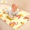 Mudando Almofadas Covers Reutilizáveis Fraldas Do Bebê Colchão Fraldas para Recém-nascidos Aleatória de Três Camadas De Algodão Mudança Impermeável Mat