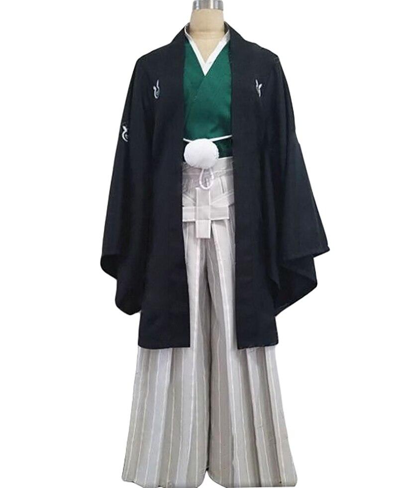 Anime BLEACH Cosplay Costume Kurosaki Ichigo Kimono Black Loose Kendo Pants