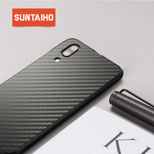 Suntaiho for huawei p20 lite case p20 pro p10 lite Metal Bumper Cover for huwei p smart honor 9 Case mate 10 pro Carbon fiber