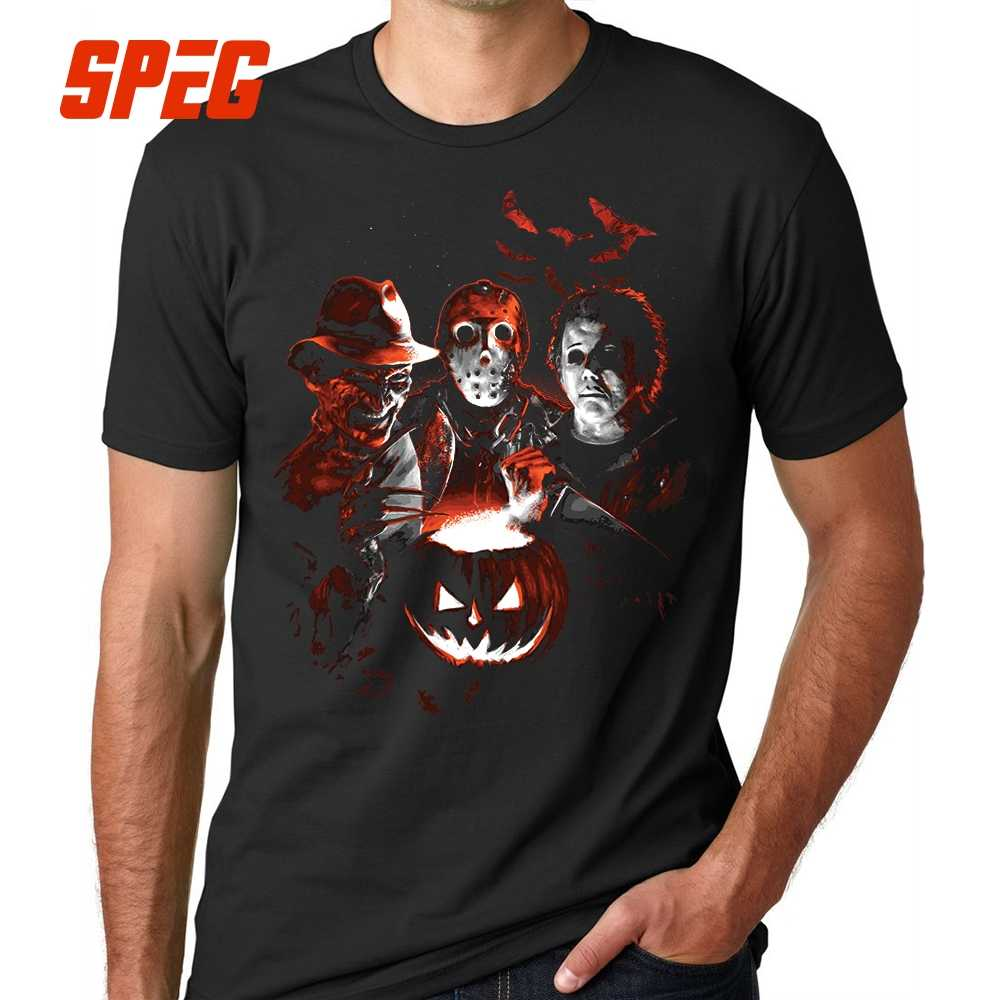 d6196f2e783 Super Villains Halloween Friday the 13th Horror T Shirt Jason Voorhees  Michael Myers T-Shirts