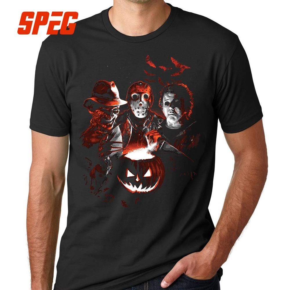 13d34f202a Super złoczyńców Halloween piątek 13th Horror T Shirt Jason Voorhees  Michael Myers (florida)