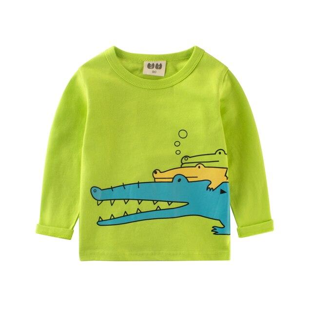 c2b9066aa25a Baby boy long sleeve tops Crocodile long boys t-shirt cartoon clothing for  boy funny girls t shirt Top & Tee girl clothes tshirt