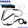 VOX walkie talkie radio earphone PTT soft neck throat mic, field operation military radio headset