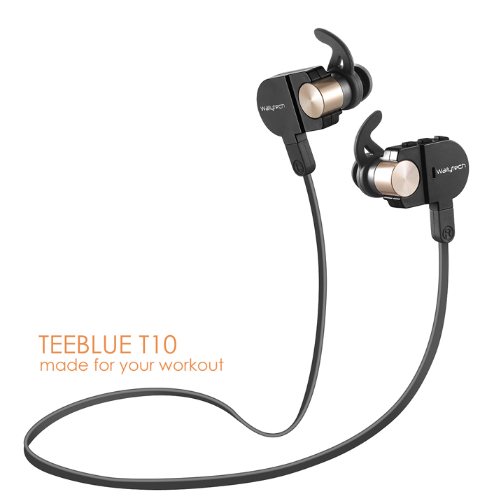 ФОТО Wallytech Teeblue T10 Universal Sports Wireless Bluetooth Headset with Microphone and volume control for your smartphones