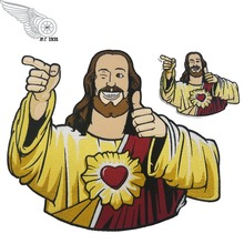 Funny Jesus Christ Embroidered Patch Iron Patches For Clothing Full Back Size