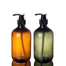 Диспенсер для жидкого мыла, очищающее средство для лица, бутылка для шампуня, геля для душа и лосьона, бутылочки для хранения 500 мл